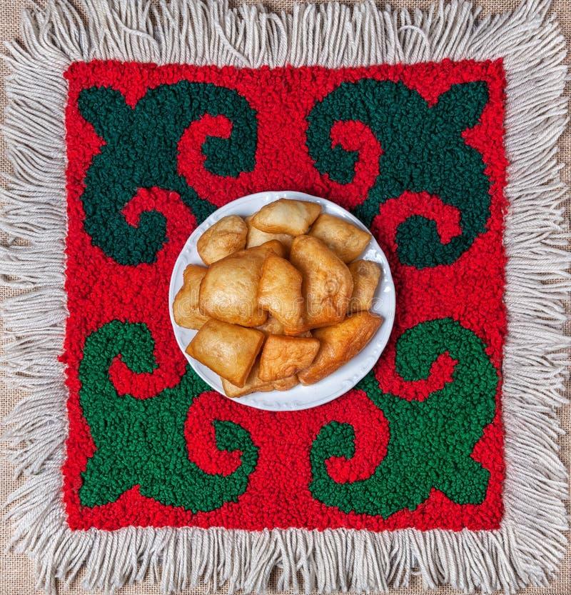 哈萨克人国民食物 库存照片