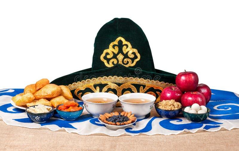 哈萨克人国民食物 免版税库存图片
