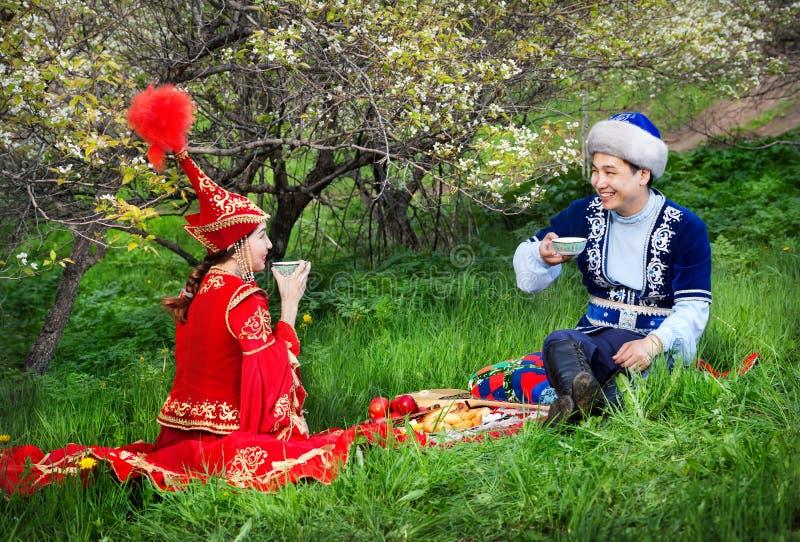 哈萨克人文化 库存图片