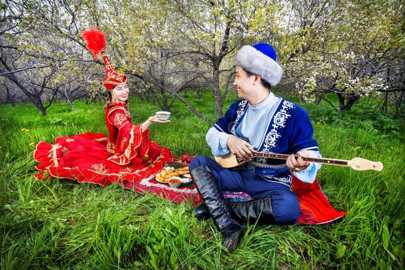 哈萨克人文化 库存照片