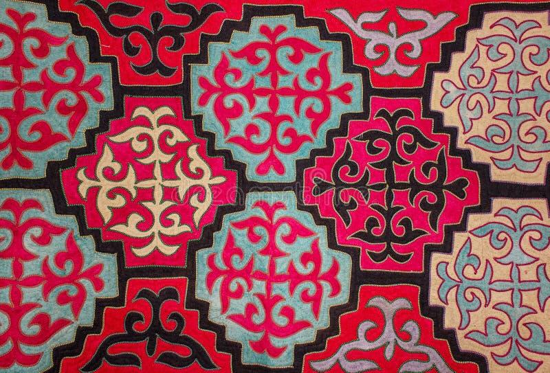 哈萨克人毛毡地毯5 免版税库存照片