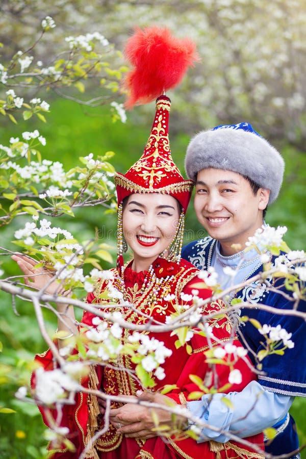 哈萨克人爱在春天 库存图片