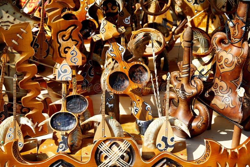 哈萨克人种族乐器 库存照片