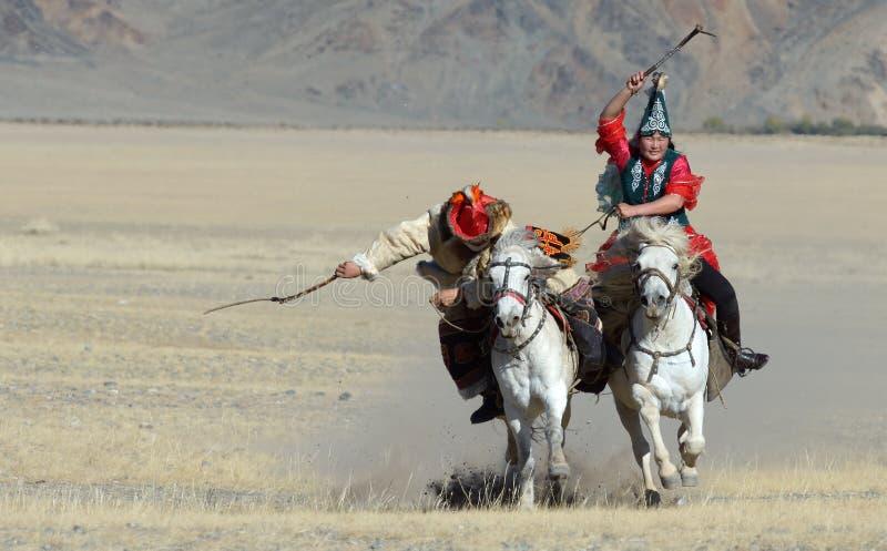 哈萨克人老鹰猎人2 免版税库存图片