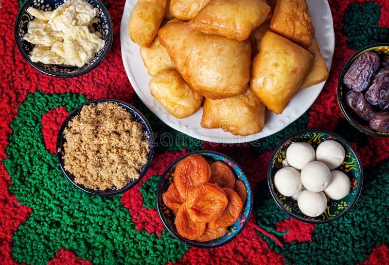 哈萨克人食物 库存图片