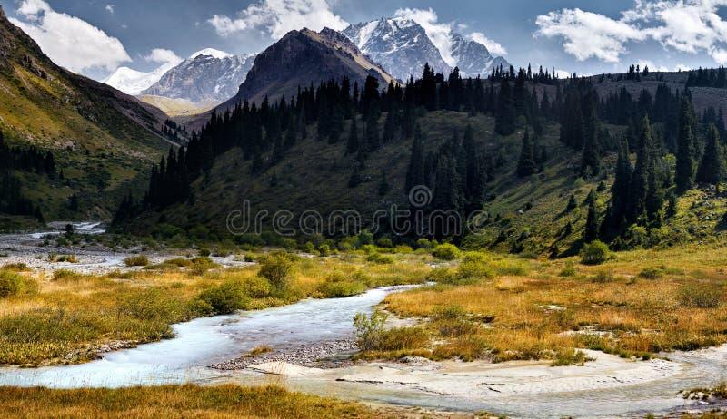 哈萨克斯坦山  免版税库存照片