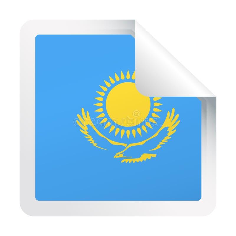 哈萨克斯坦旗子传染媒介方角纸象 库存例证