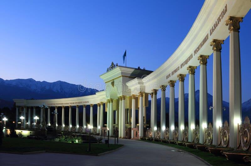 哈萨克斯坦的第一位总统的公园在ea的阿拉木图 库存图片