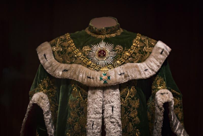 哈里斯堡朝代博物馆Hofburg宫殿的财宝在维也纳奥地利 免版税图库摄影