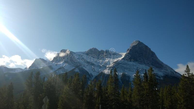 哈陵峰,加拿大艾伯塔省 库存照片
