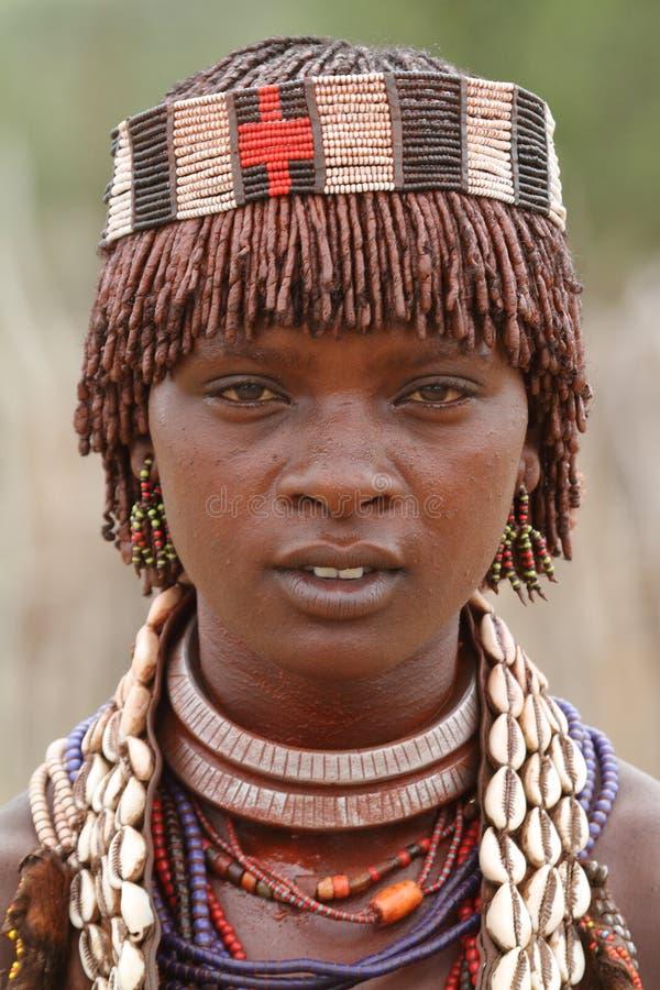 哈马尔部落埃塞俄比亚的Omo谷的 库存图片