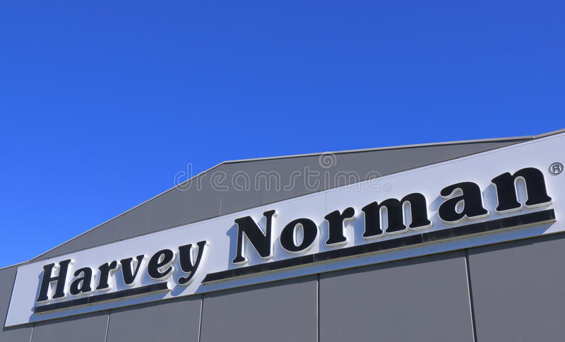 哈维诺曼底电气用品零售商澳大利亚 库存照片