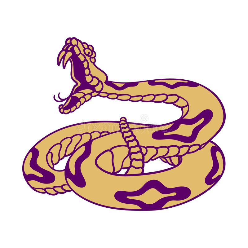 响尾蛇 皇族释放例证