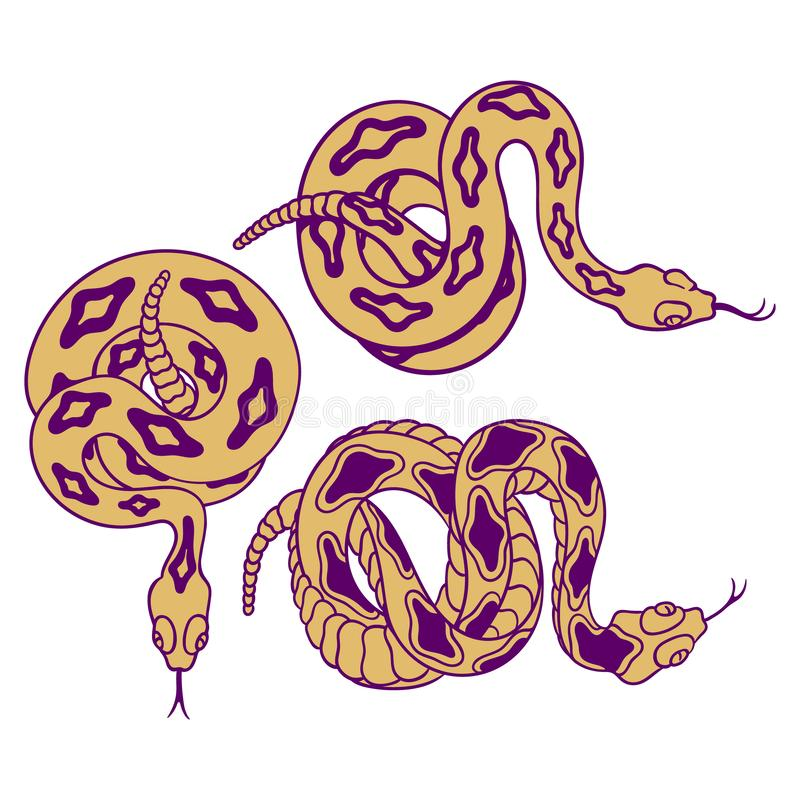 响尾蛇 库存例证