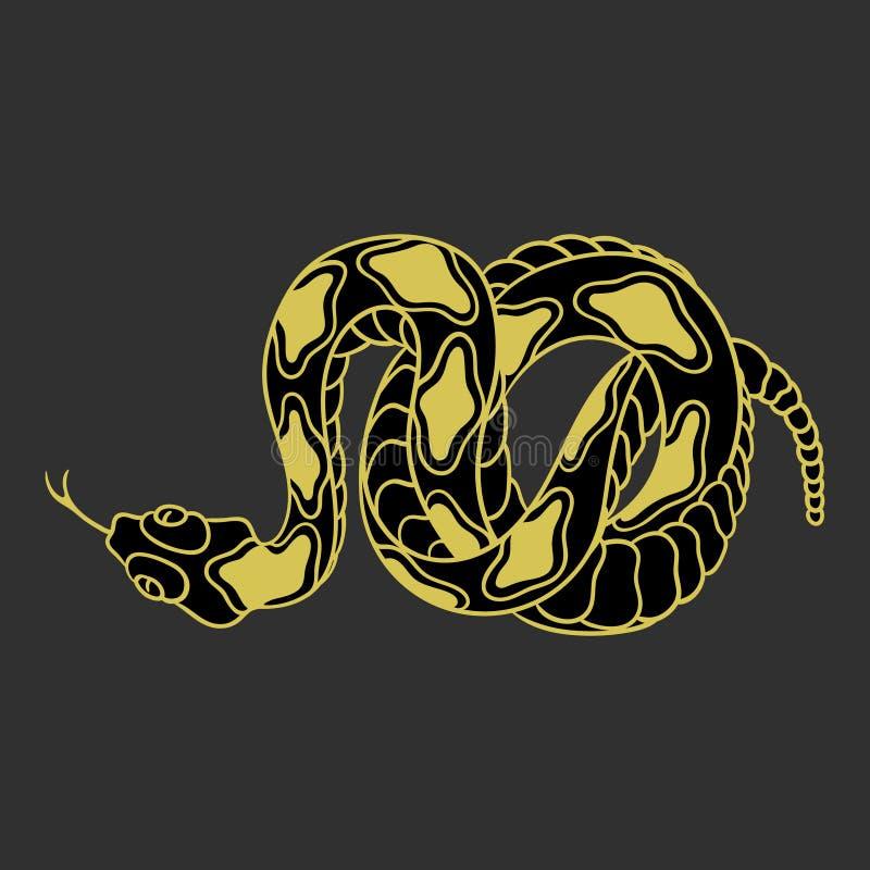 响尾蛇 向量例证