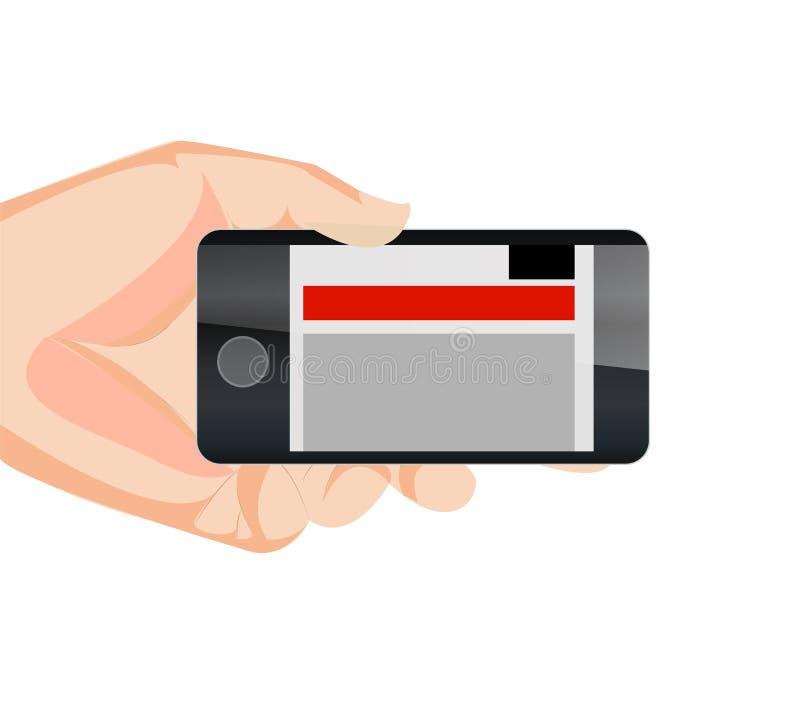 响应能力的移动网站水平用现有量 库存例证