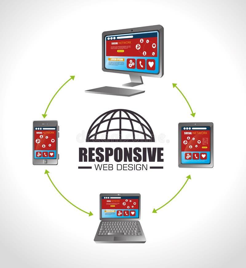 响应能力的网络设计 皇族释放例证