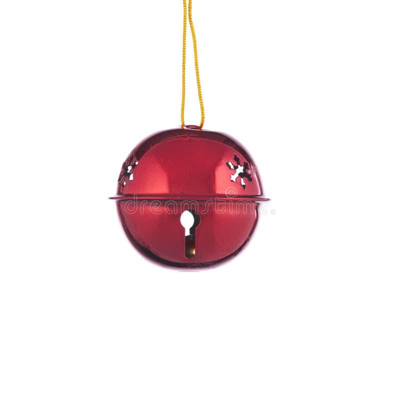 响铃圣诞节装饰品红色 免版税图库摄影