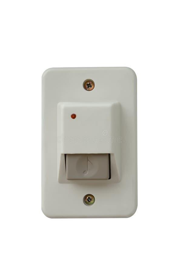 响铃开关在被安装在大门外面 免版税图库摄影