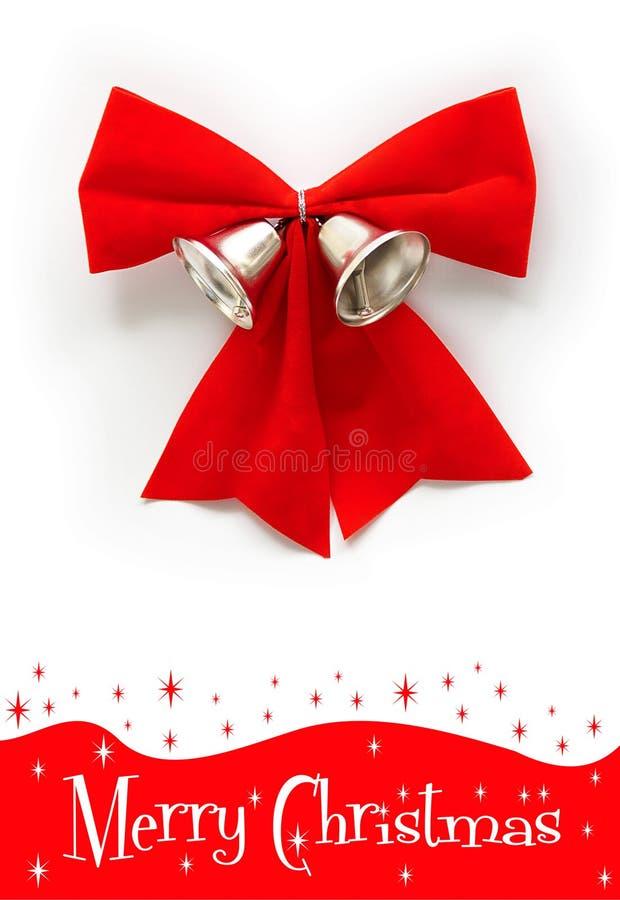 响铃弓圣诞节红色 免版税库存照片