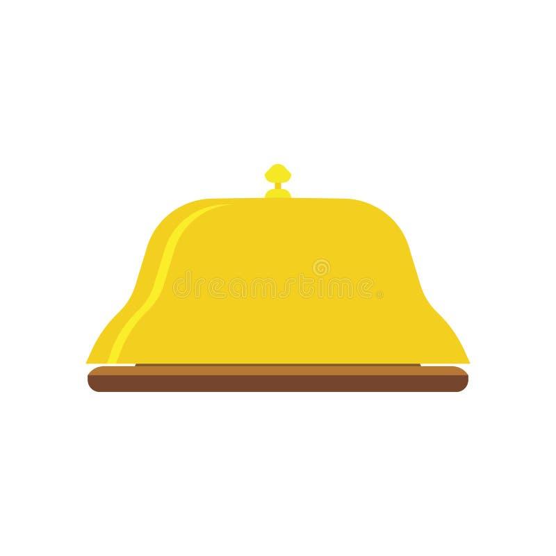 响铃服务象旅馆传染媒介招待会看门人平例证的标志 库存例证