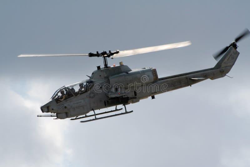 响铃AH-1 SuperCobra攻击用直升机 库存照片