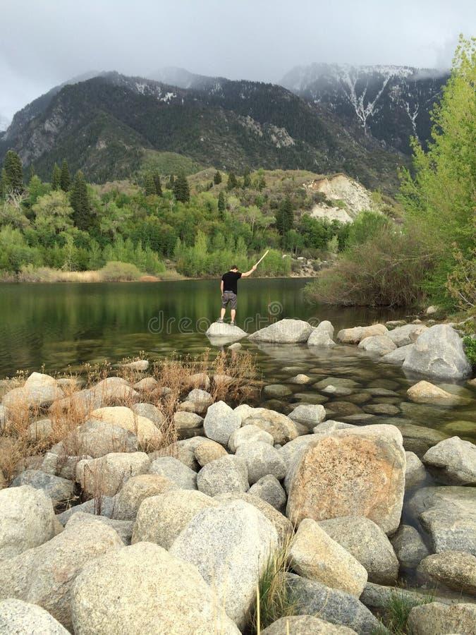 响铃Canyon湖 库存照片