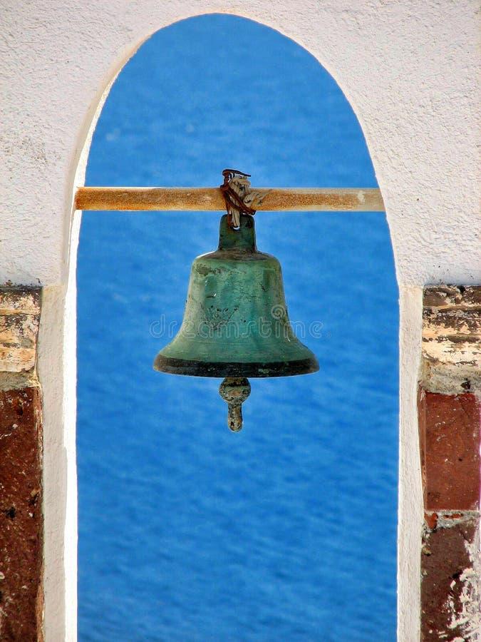 响铃santorini (希腊) 免版税库存图片