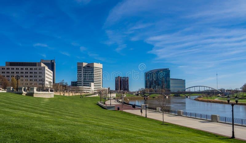 哥伦布俄亥俄地平线 免版税库存照片
