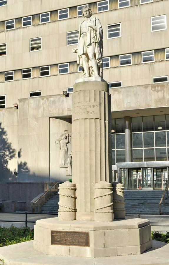 哥伦布公园,自治市镇霍尔,布鲁克林 免版税库存照片