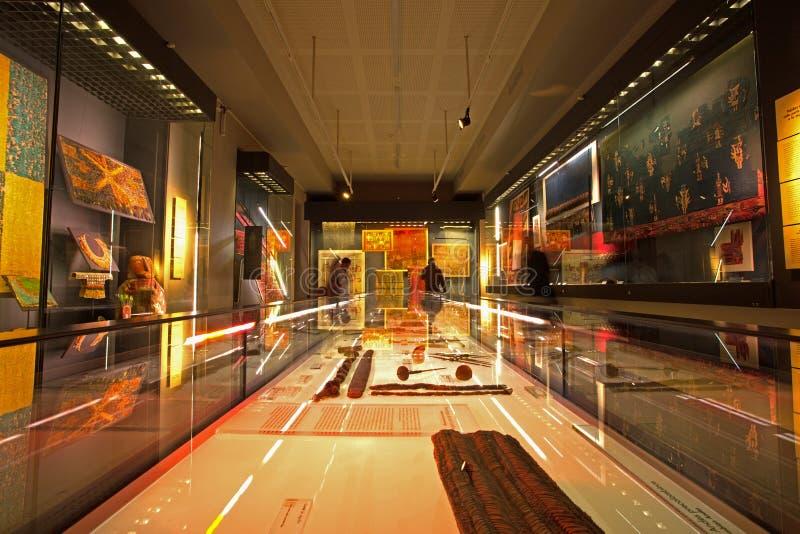 哥伦布发现美洲大陆以前艺术,圣地亚哥,智利博物馆  免版税库存照片