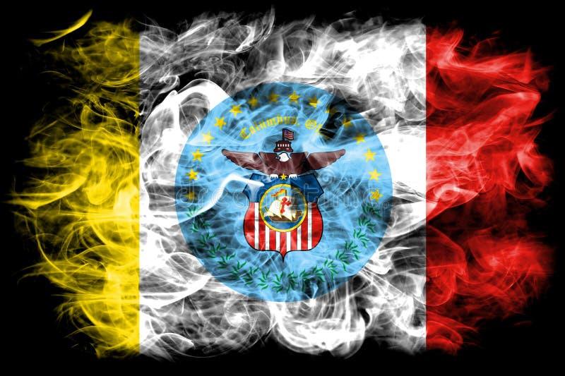 哥伦布市烟旗子,俄亥俄状态,美利坚合众国 库存例证