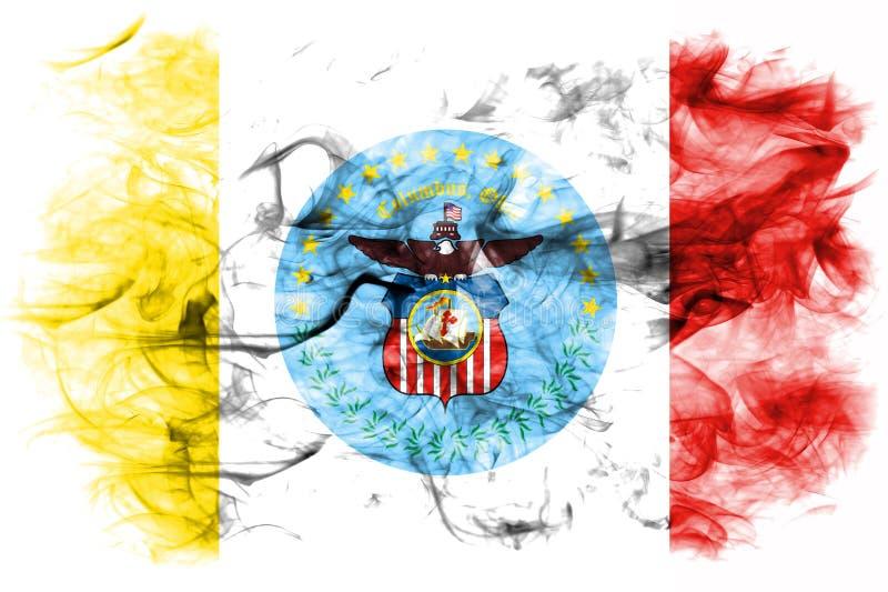哥伦布市烟旗子,俄亥俄状态,美利坚合众国 皇族释放例证