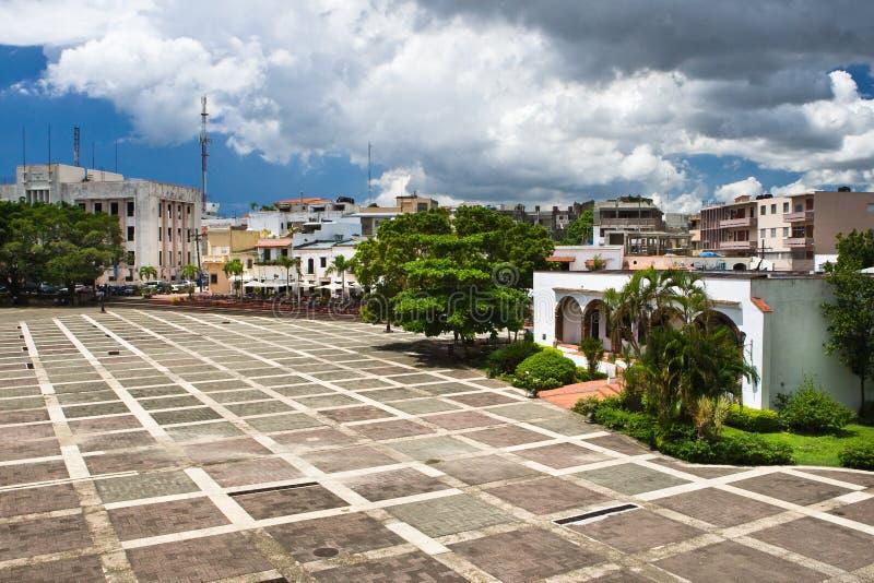 哥伦布房子正方形 免版税图库摄影