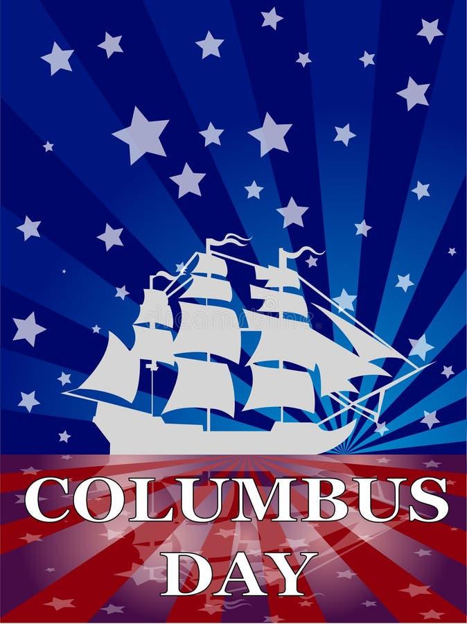 哥伦布日 皇族释放例证