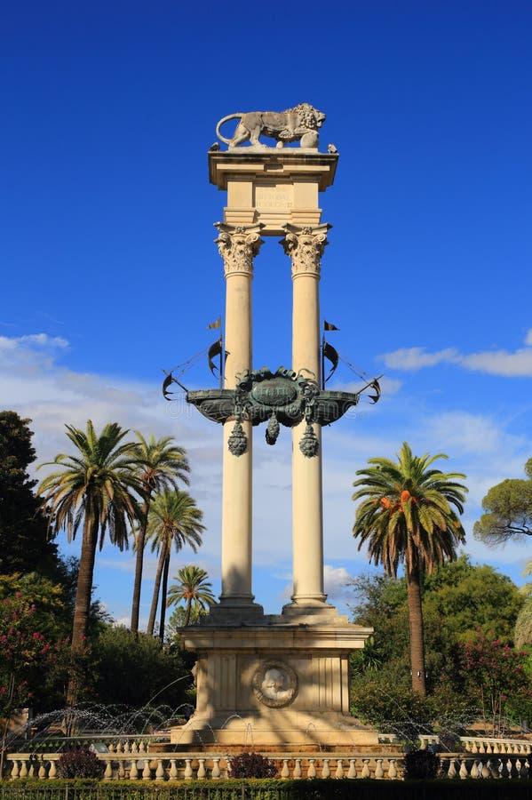 哥伦布纪念碑-塞维利亚,安大路西亚,西班牙 图库摄影
