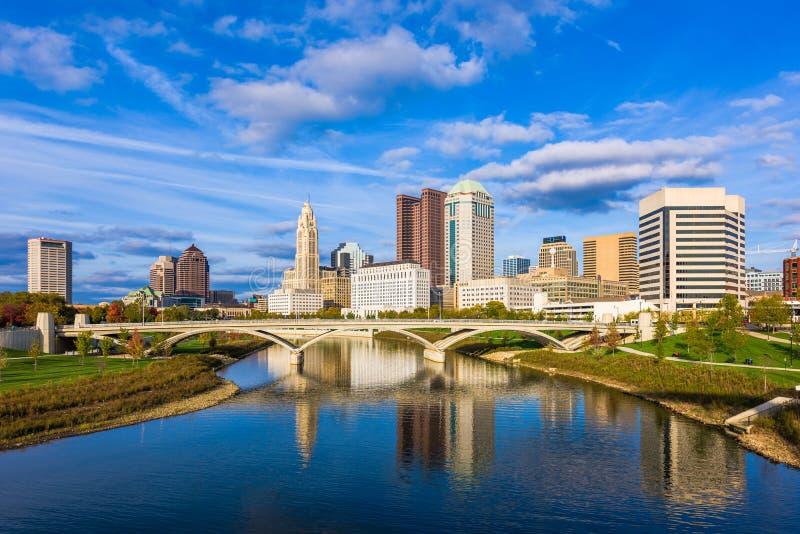 哥伦布,俄亥俄,美国地平线 免版税库存图片