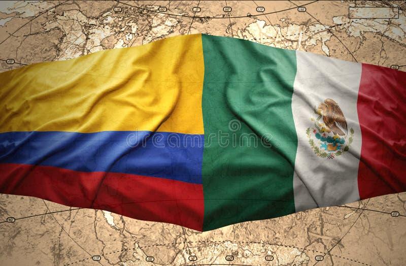 哥伦比亚和墨西哥 皇族释放例证
