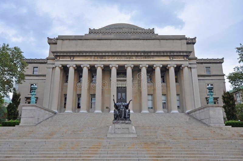 哥伦比亚大学图书馆,曼哈顿,纽约 免版税图库摄影