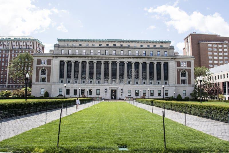 哥伦比亚大学在上部曼哈顿,纽约,美利坚合众国 免版税库存照片