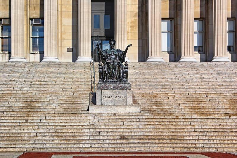 哥伦比亚大学在蓝天的纽约 免版税图库摄影