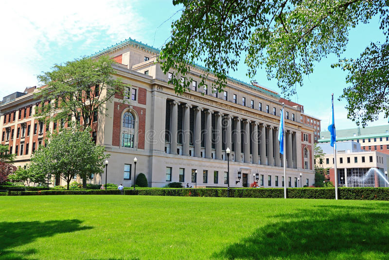 哥伦比亚大学男管家图书馆 免版税图库摄影
