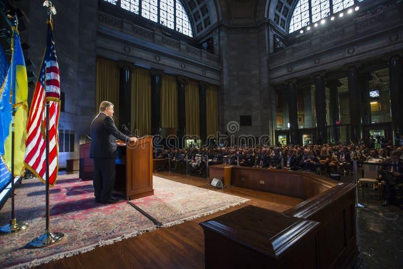 哥伦比亚大学的Petro波罗申科在纽约 库存图片