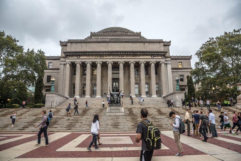 哥伦比亚大学,纽约,美国图书馆  库存图片