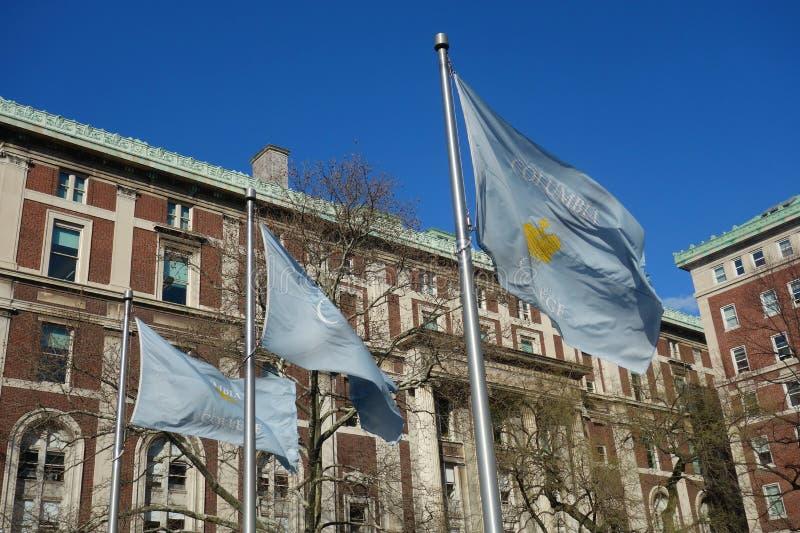 哥伦比亚学院旗子 免版税库存照片