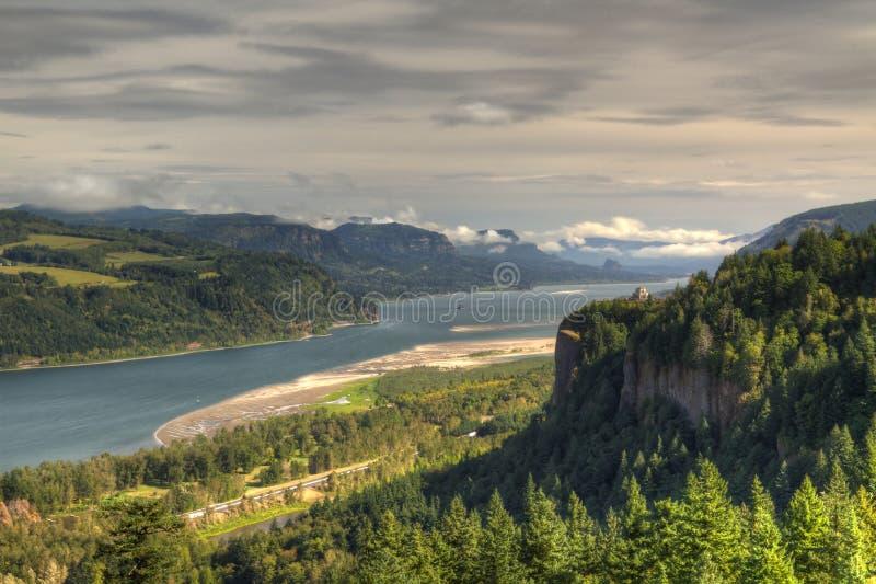 哥伦比亚峡谷河 免版税图库摄影