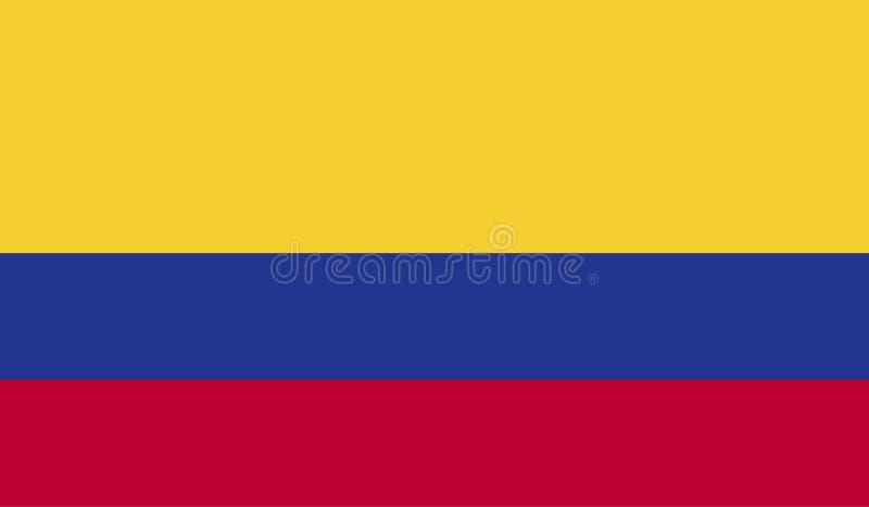 哥伦比亚旗子图象 向量例证