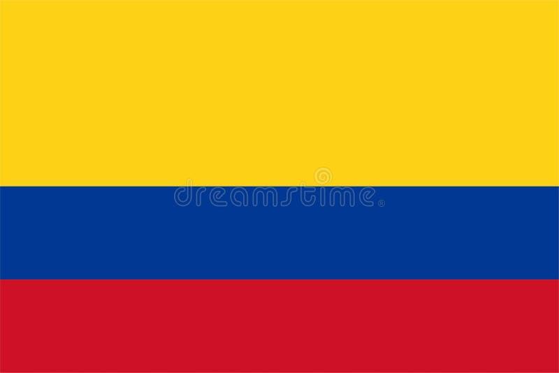 哥伦比亚旗子 向量例证