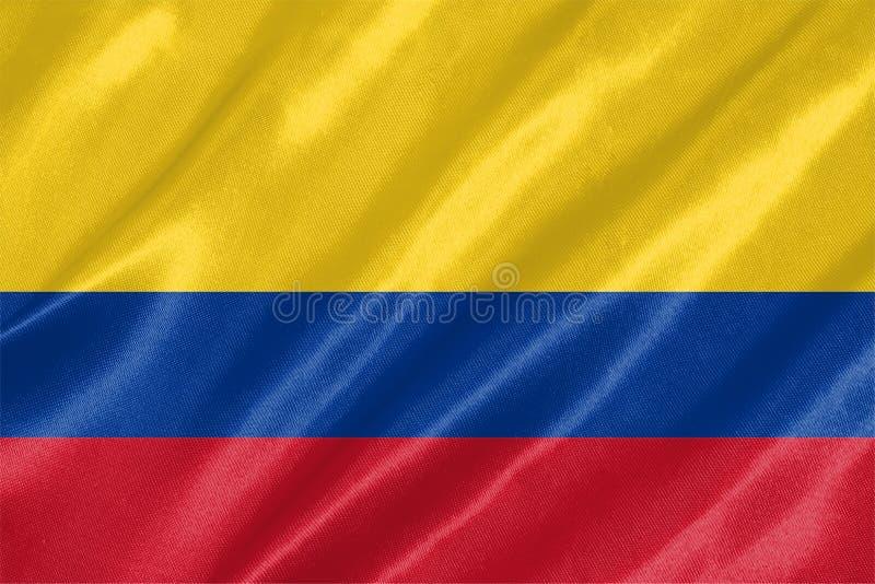 哥伦比亚旗子 免版税库存照片
