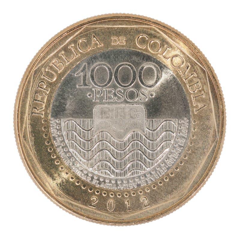 哥伦比亚比索硬币 库存图片